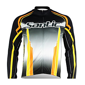 Santic - Men's Cycling Jacket  with 100% Polyster  Winter 2011 Black Color