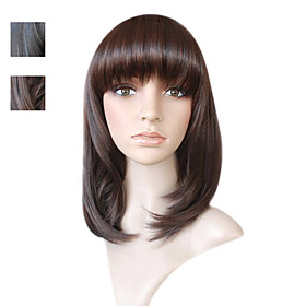 Capless Imported heat-resistant Fiber Medium Long Body Wave Hair Wig