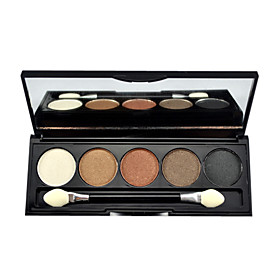 BOB 5 color eye shadow Palette with Free Brush (5#)