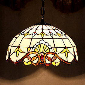 Baroque Tiffany Pendant Light with 2 Lights