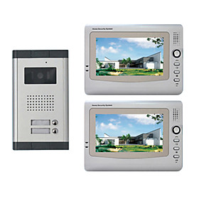 Infrared Video Door Phone System (2 LCD Screens, Easy Installation)