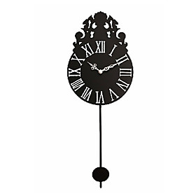 Classic Iron Mute Wall Clock