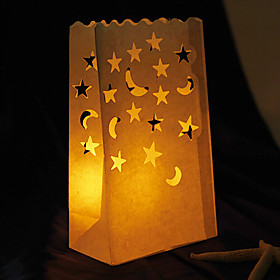 Moon   Star Paper Candle Bag(set of 4)