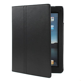 Protective PU Leather Case with Stand for iPad 2 (Black)
