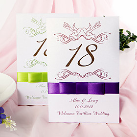 Elegant Lovebirds  Table Number Card (Set of 10)