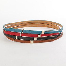 TS Buckle Printed Leather Belt