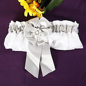 Pearl Flower Wedding Garter