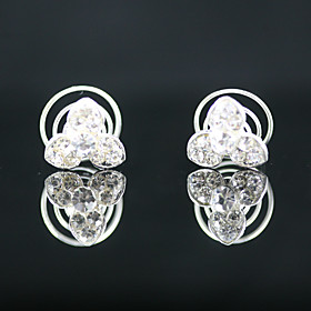 2 Pieces Gorgeous Rhinestones Bridal Pins Special Occasion Headpieces