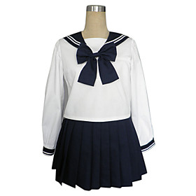 Long Sleeve Ink Blue Skirt Sailor Suit