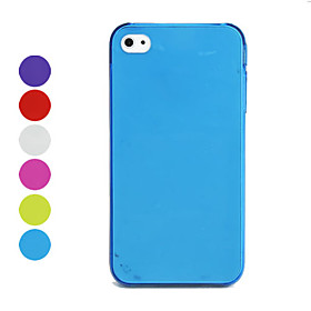 0.5mm Ultra-Thin Protective Back Case for iPhone 4 - Different Colors Available