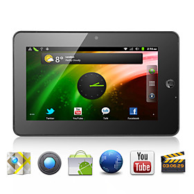 Dropad - Android 2.3 Tablet with 7 Inch Capacitive Multi-Touch Screen (WiFi, 1.2GHz CPU, Camera, 1080P, External 3G)