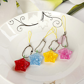 Mini Star Crystal Puzzle Cell Phone Charm (set of 6)
