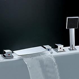 contemporanea vasca con cascata rubinetto doccetta (finitura cromata)