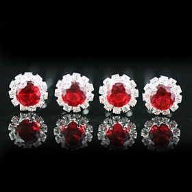4 Pieces Gorgeous Rhinestones Wedding Bridal Pins Wedding/Special Occasion Headpieces More Colors Available