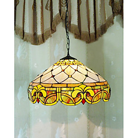 2-light Roman Jewel Tiffany Pendant Light (0923-TF-P12)