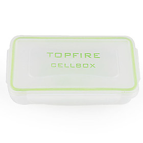 Water-proof Plastic Translucent Battery Case for 18650,16340 Battery (White)