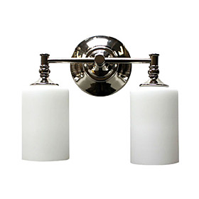 Wall Light with 2 Lights in Warm White Shade