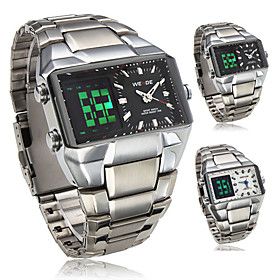 Osiris - Analog-Digital Dual Display Black Dial Wrist Watch WH-909
