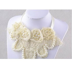 TS Floral Crochet Ribbon Necklace