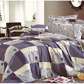 Butterfly Shadows Full / Queen 3-piece Duvet Cover Set