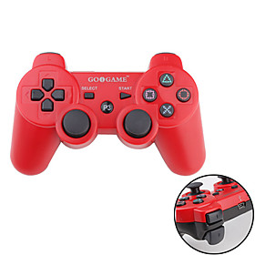 GOiGAME Wireless Two-Tone DualShock 3 Controller for PS3 (Red   Black)
