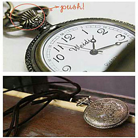Pendant Watch Sweater Necklace