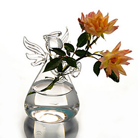 Glass Angel Vase