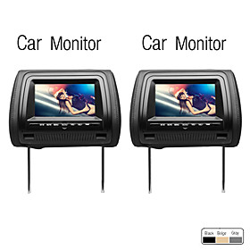 7 Inch Digital Screen Car Headrest DVD Monitor, 1 Pair