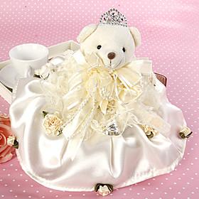 Bride Bear Ring Pillow
