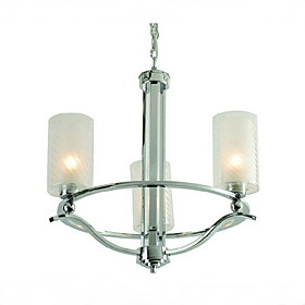 Modern Chandelier with 3 Lights in Warm White Shade