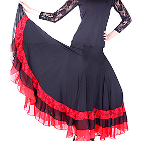 Dancewear Viscose/ Chiffon Performance Skirts For Ladies