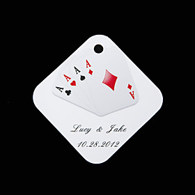 Personalized square tags - Playing Card (set of 36)