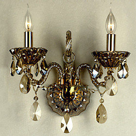 Crystal Wall Light with 2 Lights