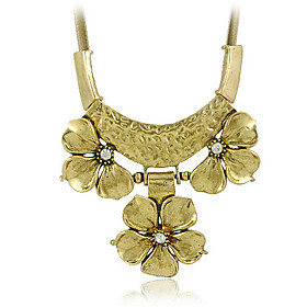 Elegant Alloy Flower Necklace