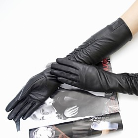 TS Over-the-Elbow Ruched Leather Gloves (50cm)