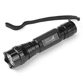 UltraFire WF-501B Waterproof Flashlight with CREE T6 (1000 Lumens, Black, 1x18650)