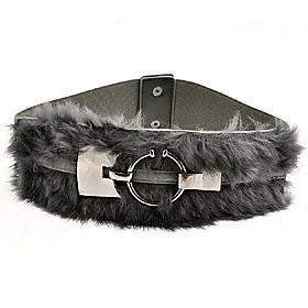 TS Modern Rabbit Fur Belt (More Color)