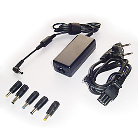 Universal Laptop AC Adapter with 5 Connectors (65W)