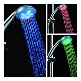 3.3-inch 5–LED Shower Head (Plastic, Chrome Finish)