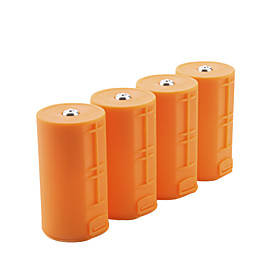 AA to D Size Cell Battery Converter Case(4 pcs)