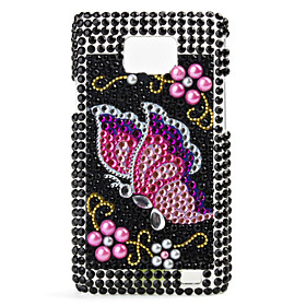 Butterfly Pattern Hard Case for Samsung i9100 (Black)