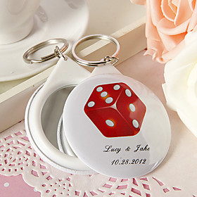 Personalized Mirror Key Ring - New Pattern A(set of 12)