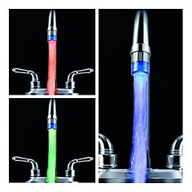 Stylish Water Powered Kitchen LED Faucet Light (Plastic, Chrome Finish, Blue)