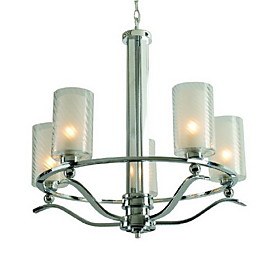 Modern Chandelier with 5 Lights in Warm White Shade