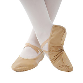 Real Leather Upper Dance Shoes Ballroom Split-sole Ballet Slipper for Women/ Men/ Kids More Colors