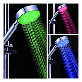 4-inch 6–LED Shower Head (Plastic, Chrome Finish)
