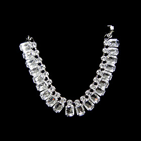 Crystal With Ribbon Wedding Bridal Necklace