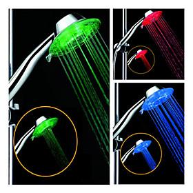 4.3-inch 5–LED Shower Head (Plastic, Chrome Finish)