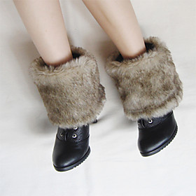 TS Medium Grey Faux Fur Shoe Cover (20cm)