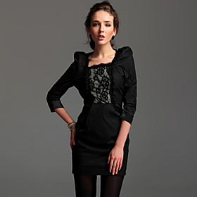 TS Lace Embroidered Quarter Sleeve Jersey Dress